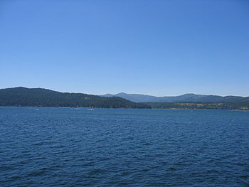 English: Coeur d'Alene Lake.