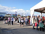 Cowes Yacht Haven during Cowes Week 2011.JPG