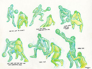 Crossover dribble - Image: Crossover Dribble