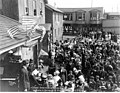 Crowd in Nome street attending July 4 public reading event, July 4, 1914 (AL+CA 6229).jpg