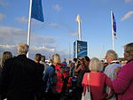 Crowds during Cowes Week 2011 Red Arrows display.JPG