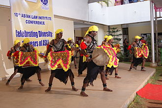 National Law School of India University - A cultural performance during the 10th Asian Law Institute Conference at the university