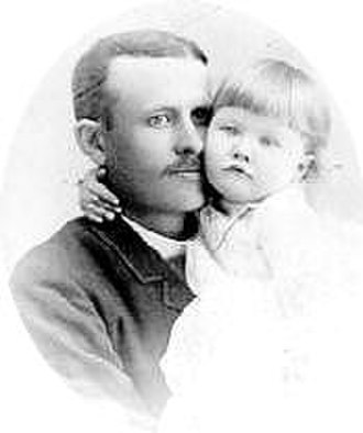 C. W. Post - C.W. Post holding his only child, daughter Marjorie Merriweather Post