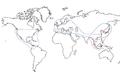 Cyclobalanopsis &Quercus range map.png