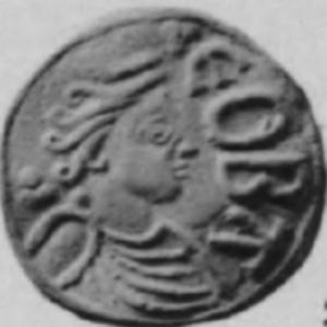 Cynethryth - Image: Cynethryth penny obverse