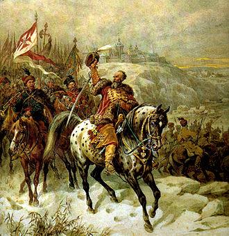 Stefan Czarniecki - Czarniecki near Płock painting by Juliusz Kossak