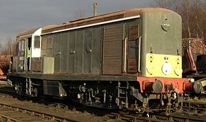 British Rail Class 15 - Sole surviving Class 15 no D8233 seen at Baron Street Loco Shed, East Lancashire Railway, February 2006