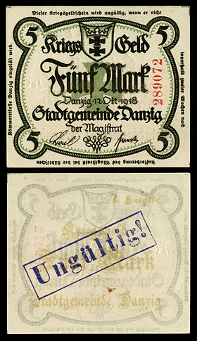 DAN-7-Danzig City Council-5 Mark (1918).jpg