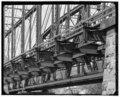 DETAIL VIEW OF BRIDGE - Elk River Truss Bridge, Spanning Elk River at Penn Central Railroad tracks, Charleston, Kanawha County, WV HAER WVA,20-CHAR,10-3.tif