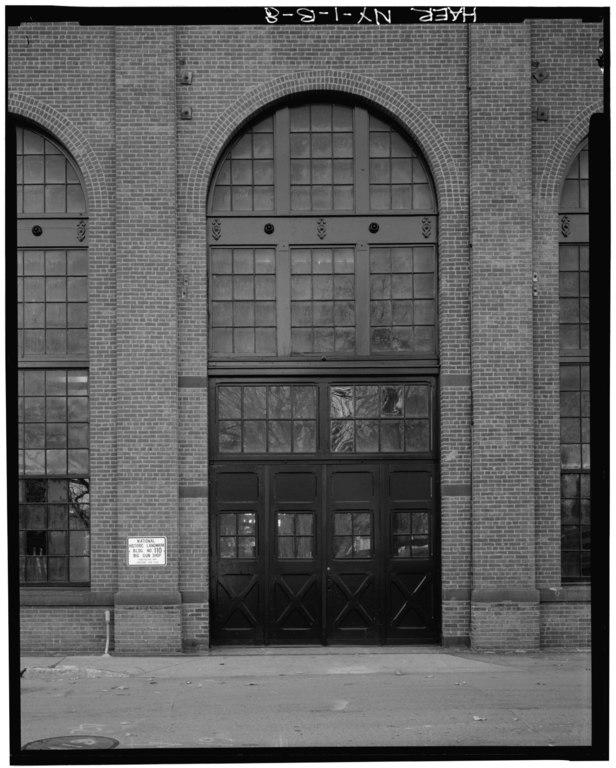 N Building Elevation Photos : File detail view of original entry doors in main aisle n