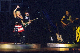"Ray of Light (song) - Madonna performing ""Ray of Light"" during the Drowned World Tour of 2001."