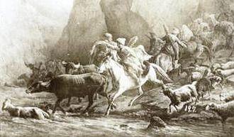 Battle of Ghartiskari - Marauding Lezgins returning from a raid.
