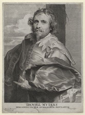 Daniël Mijtens - Daniël Mijtens (by Paul Pontius, c. 1640, after Sir Anthony van Dyck)