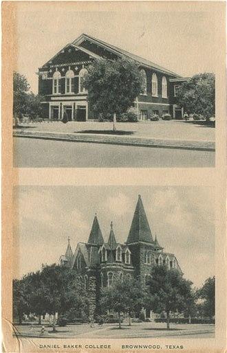 Daniel Baker College - Daniel Baker College buildings