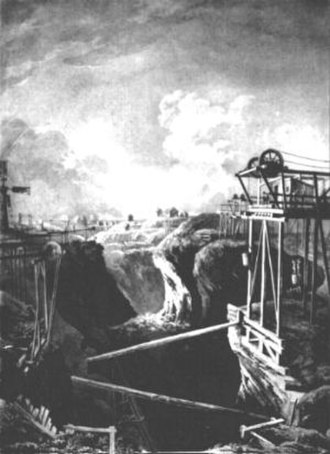 Dannemora, Sweden - Dannemora mine around 1800