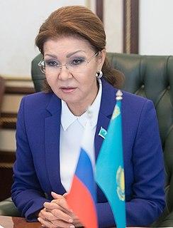 Dariga Nazarbayeva Kazakhstani politician who is the Chairwoman of the Senate of Kazakhstan