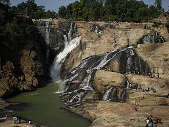 Chota Nagpur Plateau - Dassam falls in the plateau