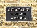 Datestone for C. Sugden's Terrace, Lower Edge Road, Elland - geograph.org.uk - 470770.jpg