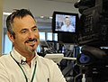 David Feherty participates in a video session while visiting injured troops at the Veterans Administration Medical Center in Augusta, Ga., April 8, 2009 090408-A-NF756-002.jpg