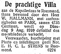 De Tijd no 19121 advertisement De prachtige Villa.jpg