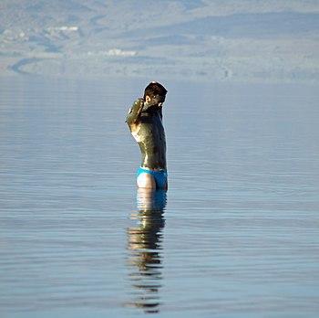 Dead Sea mud man