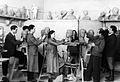 Dec.1949 atelie ivan funev 1 kurs,Stoyan angelov, mitio solakiv, daria, stoyan dragomirov, angel jirov.jpg