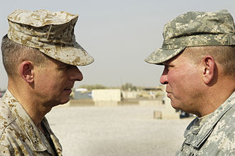 James D. Thurman - Thurman (right) in August 2006, talking to General Peter Pace, Chairman of the Joint Chiefs of Staff