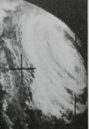 1965 Pacific typhoon season - Image: Della Oct 1819650126z