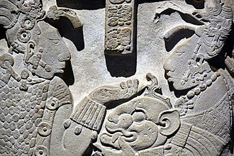 Maya civilization - Detail of Lintel 26 from Yaxchilan
