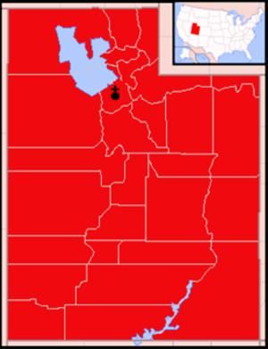 Roman Catholic Diocese of Salt Lake City - Image: Diocese of Salt Lake City map