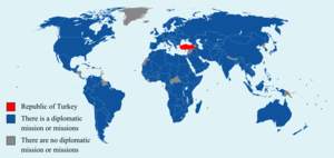 Foreign relations of Turkey - Countries in which Turkey maintains its own embassy