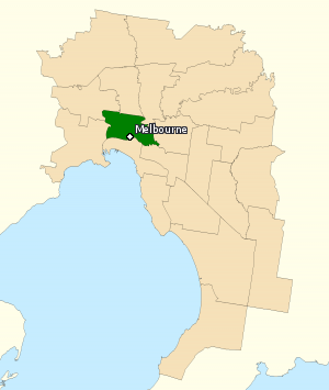 Division of Melbourne - Division of Melbourne in Victoria, as of the 2016 federal election.
