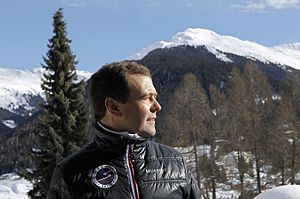 Dmitry Medvedev's interview with NTV at the World Economic Forum 2013 (2013-01-24) 03.jpg