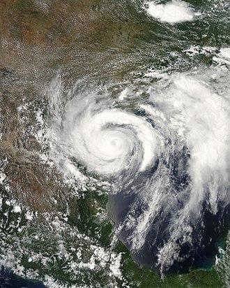 2008 Atlantic hurricane season - Image: Dolly 2008 07 23 1950Z