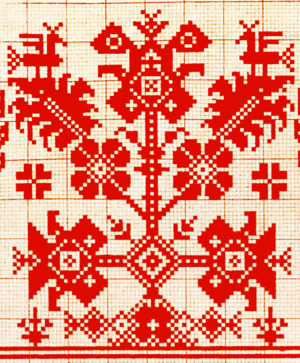 World tree - Russian 19th century ornament of the world tree.