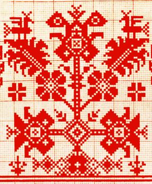 World tree - Russian 19th century ornament of the world tree.