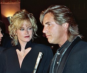 Melanie Griffith - Griffith with then-husband Don Johnson at the APLA benefit in September 1990