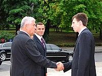Dorin Chirtoacă with Vladimir Voronin and Vasile Tarlev.jpg