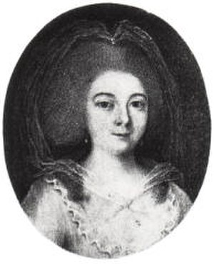 Dorothea Wendling - Contemporary engraving of Dorothea Wendling, singing the role of Ilia at Munich