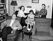 Douglas Edwards and children 1955.JPG