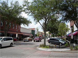 Walterboro, South Carolina - E. Washington Street in downtown Walterboro