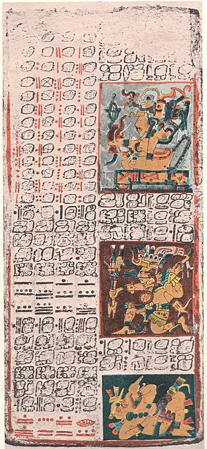 Maya script - Yucatec Maya writing is the Dresden Codex, ca. 11–12th century, Chichen Itza