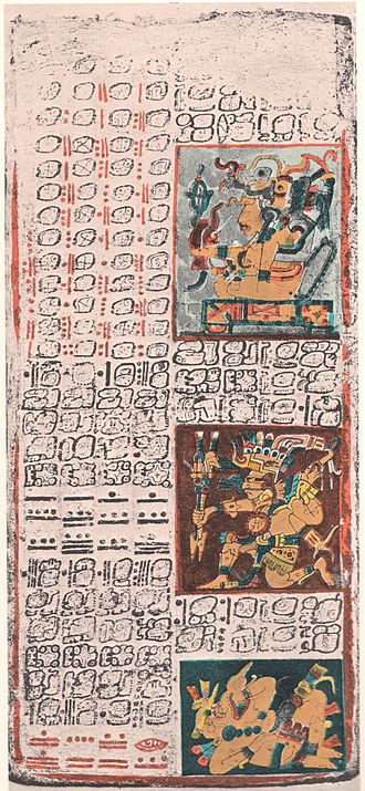 Maya script - Yucatec Maya writing in the Dresden Codex, c. 11–12th century, Chichen Itza