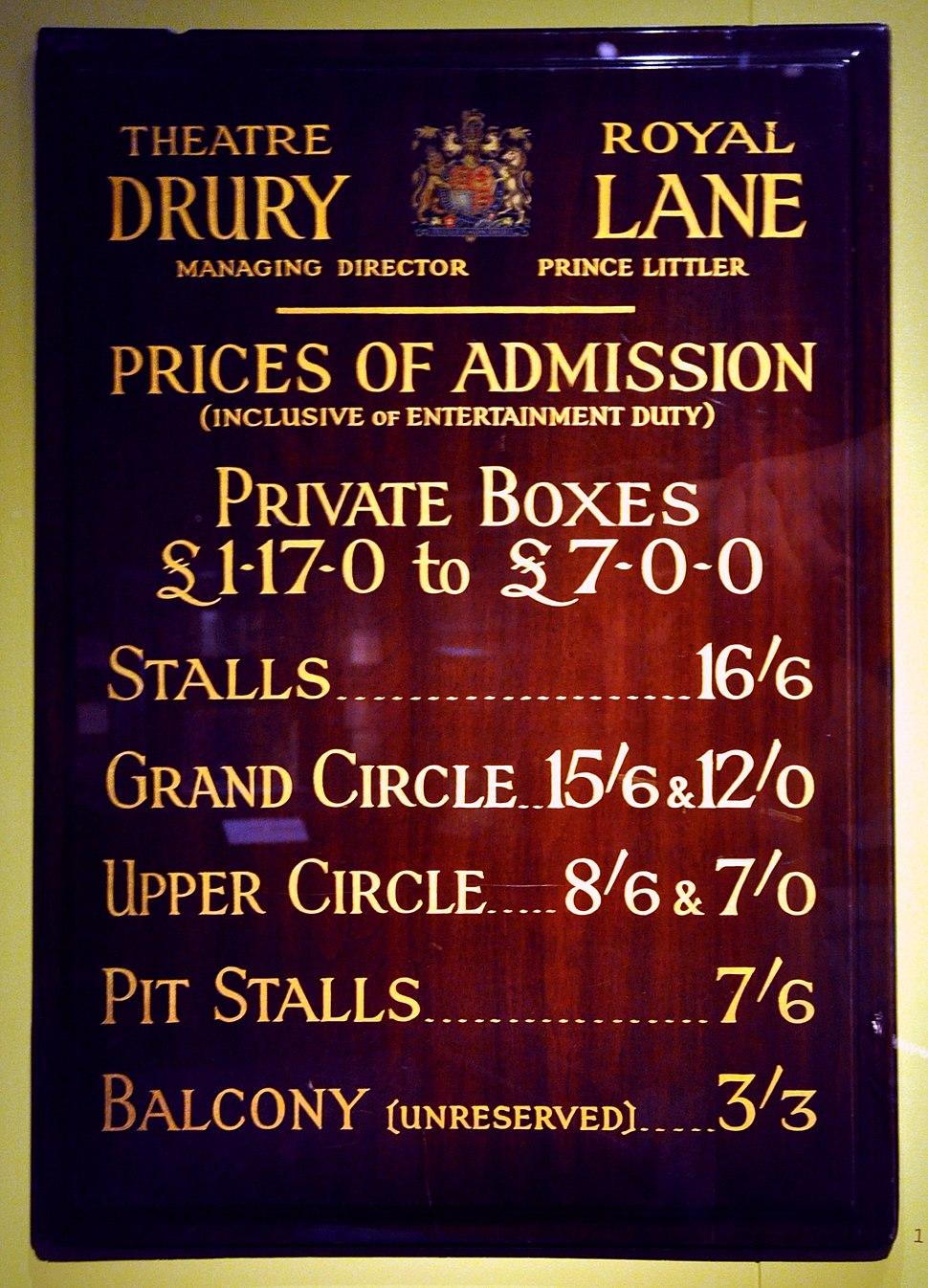 Drury Lane Notice Board VA