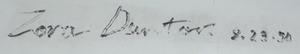 Zora Arkus-Duntov - Duntov's signature on a Corvette bumper
