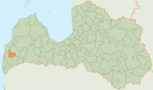 Durbe Municipality - Image: Durbes novads karte