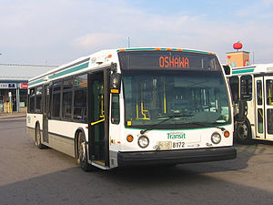 Durham Region Transit - Bus 8172 waits at the Ajax GO Station.