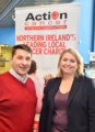 During a visit to NICVA in north Belfast today, Karen Bradley MP dropped in for a chat with staff from Action Cancer who were hosting an event. (42929014200).png