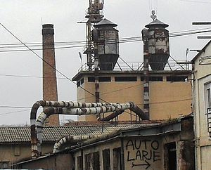 Dust collector - Two rooftop dust collectors in Pristina, Kosovo