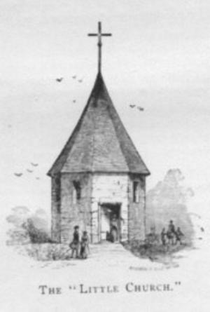 Old Bergen Church - Image: Dutchreformedchurchb ergen 1680